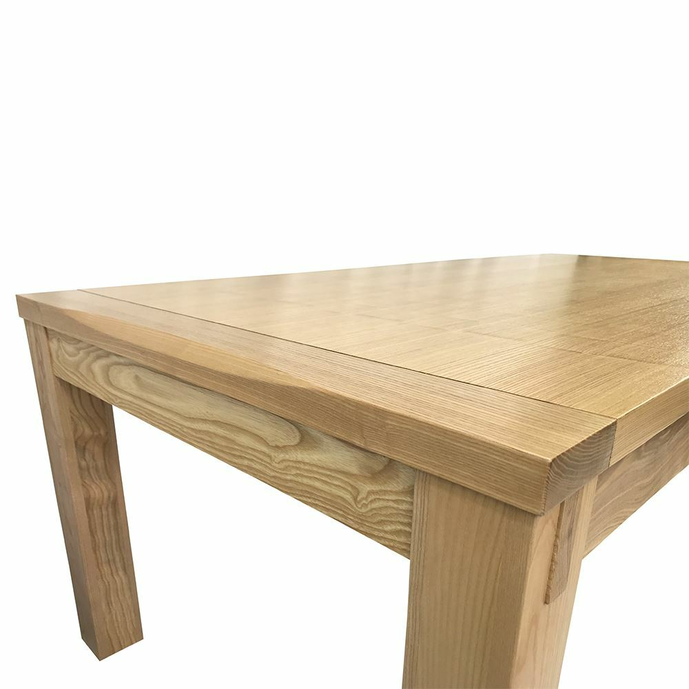 Solid Ash Timber Wood Rectangular Dining Table 2m Antique