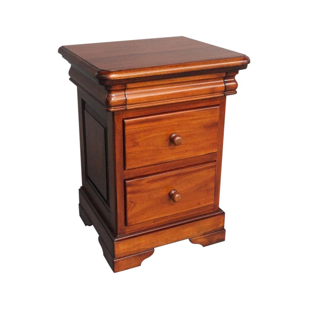 Mahogany wood bedside table