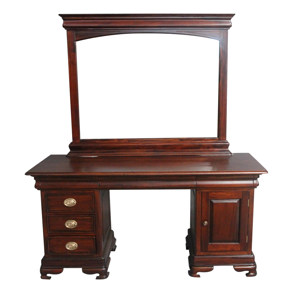 Antique Style Mahogany Wood Bedroom Furniture Dressing