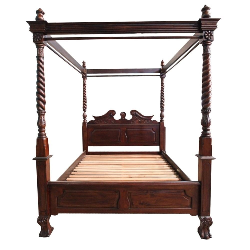 Antique Style Bedroom Furniture Solid Mahogany Wood