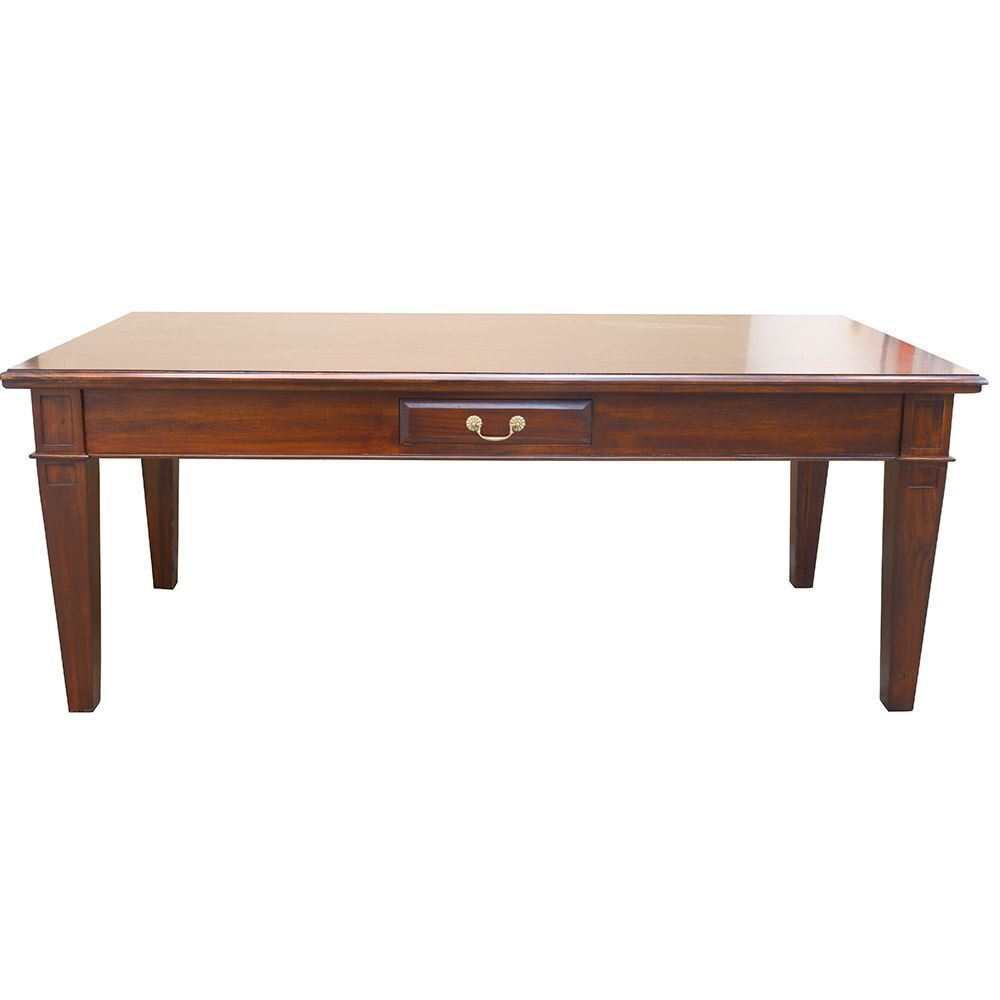 Solid Mahogany Wood Large Rectangular Dining Table Antique