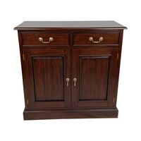 Solid Mahogany Wood 2 Doors,2 Drawers Buffet