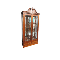 Solid Mahogany Timber 2 doors Display Cabinet