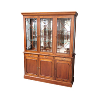 Solid Mahogany Timber 3 doors Bookcase / Display Cabinet