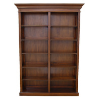 Solid Mahogany Wood Tall Bookshelf / PRE-ORDER