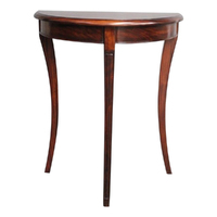 Mahogany Hall Table Half Moon Shape
