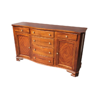Solid Mahogany Wood Serpentine Inlay Buffet