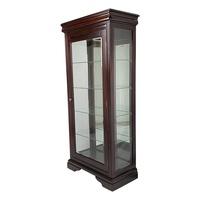 Solid Mahogany 1 Door Display Cabinet