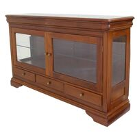 Solid Mahogany Wood 2 Doors Display Buffet