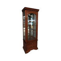 Solid Mahogany 1 Door  Reproduction Display Cabinet