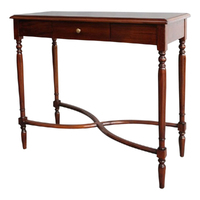Solid Mahogany Wood 1 Drawer Flute Legs Hall/Console Table