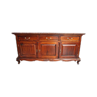 Solid Mahogany Wood 3 Door Queen Ann Buffet