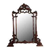 Solid Mahogany Wood Hand Crafted  Gertrude Wall Mirror