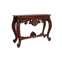 Solid Mahogany Wood Hand Carved Large Hall / Console Table
