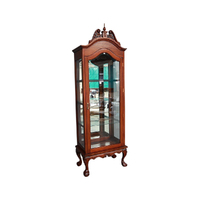 Solid Mahogany 1 Door Chippendale Display Cabinet