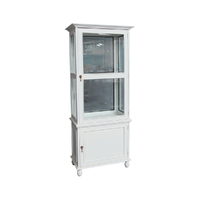 Solid Mahogany Glass Reproduction Display Cabinet