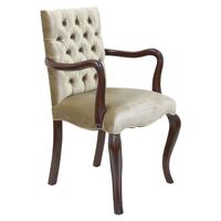 Solid Mahogany Wood French Style Large Carver Chair Reproduction