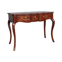 Mahogany Wood Small Office Desk with 3 Drawers