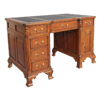 Solid Mahogany Home Office Desk Antique Reproduction Design