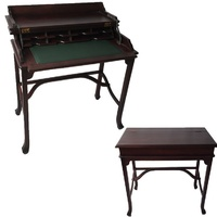Mahogany Wood Writing Desk with Lift Top