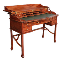 Mahogany Wood Large Writing Desk with Lift Top