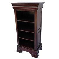 Solid Mahogany Wood Bookcase with 4 Shelves