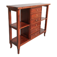 Solid Mahogany Wood 5 Drawers Hall Table