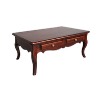 Solid Mahogany Wood Coffee Table with 4 Drawers/130