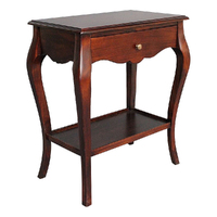 Solid Mahogany Wood Cabriole Leg Side Table
