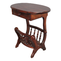 Solid Mahogany Wood Regency Magazine Rack