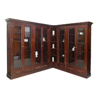 Victorian Style Solid Mahogany Large L Shape Bookcase Files Cabinet / Pre-Order