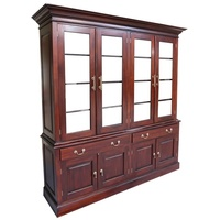 Solid Mahogany 4 Door Display Cabinet
