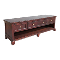 Solid Mahogany Wood Low Line TV Stand / Cabinet