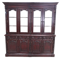 Solid Mahogany 4 Door  Resolute Cabinet / Bookcase