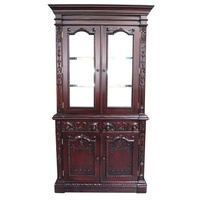 Solid Mahogany Wood Hand Carved Resolute Bookcase /Antique Style Pre-Order
