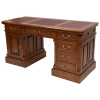 Solid Mahogany Wood Writing Long Desk