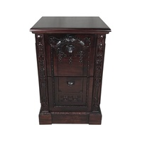 Solid Mahogany Wood Hand Carved Large Resolute Filing Cabinet/Pre-Order