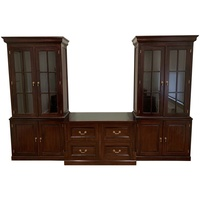 Solid Mahogany Wood Large Home / Office Bookcases and Filing Drawers