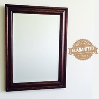 Solid Wood Bevelled Glass Mirror
