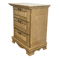 3 Drawers Solid Wood Bedside Table