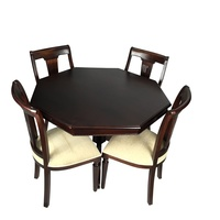 Mahogany Octagonal Dining Table Set 120cm