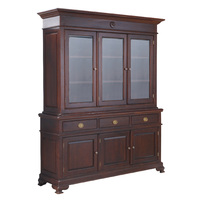 Mahohgany Bookcase Display Cabinet with 3 Cupboards & Drawer