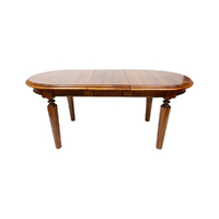 Solid Mahogany Wood Oval Dining Table