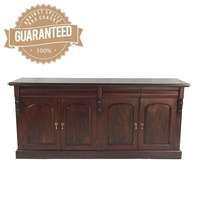 Solid Mahogany Wood 4 Door Buffet