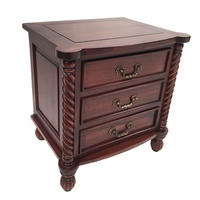 Solid Mahogany Wood Bedside Table
