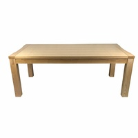 Solid Ash Wood 2m Rectangular Dining Table
