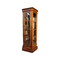 Solid Mahogany Wood 1 Door Profile Display Cabinet / Bookcase