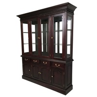Solid Mahogany Wood 4 Door Display Cabinet