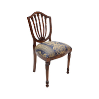 Solid Mahogany Wood Happlewhite Style Upholstered Dining Chair