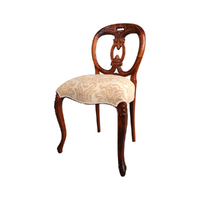 Solid Mahogany Wood Antique Style Biola Dining Chair Reproduction